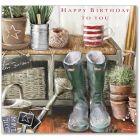 A Day In The Garden Birthday Single Card