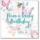 Birthday Butterflies Single Card