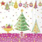 Cheery Christmas pink napkins