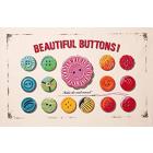 Cotton Tea Towel - Beautiful Buttons