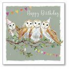 Twit Twoo Owls - Happy Birthday Single Card