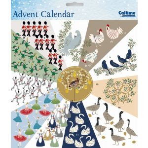 12 Days of Christmas Square Calendar - Charity Christmas Gifts & Decorations