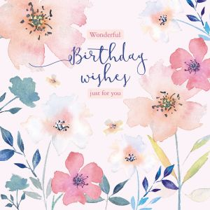 Wonderful Birthday Wishes Just For You - Cards for Good Causes Charity Single Card - Plastic Free