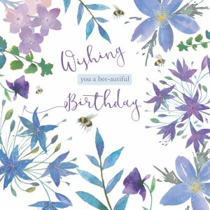 Bee-autiful Birthday - Cards for Good Causes Charity Single Card - Plastic Free