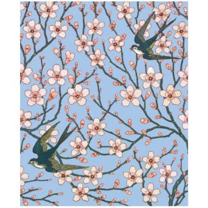 Almond Blossom and Swallow Everyday Single Card