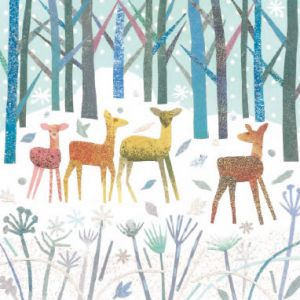 Deer Family - Cards For Good Causes Charity Christmas Cards