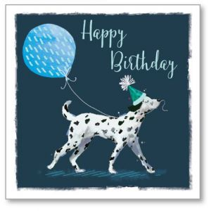 Time to Party Dalmatian Birthday Single Card