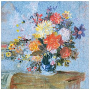 A Vase of Lilies, Dahlias and Other Flowers Everyday Single Card
