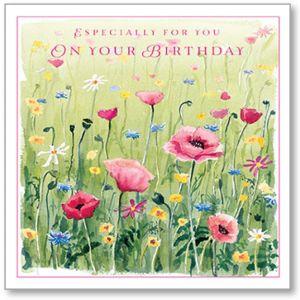 English Meadow Birthday Single Card
