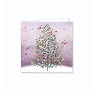 Festive Tree Advent Card - Cards For Good Causes Charity Christmas Cards