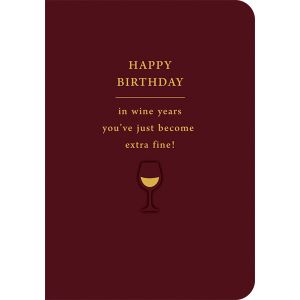 Fine Wine Birthday Single Card