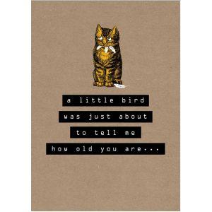 A Little Bird... Everyday Birthday Single Card