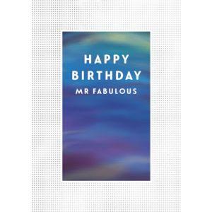 Happy Birthday Mr Fabulous Single Card