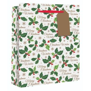 Holly Large Gift Bag - Charity Christmas Gifts & Decorations