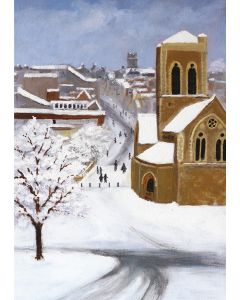 St. Nicholas Church, Guildford in the Snow - Cards For Good Causes Charity Christmas Cards