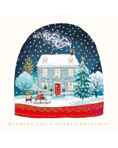 Christmas Snow Globe- Charity Christmas Cards - Plastic Free Packaging