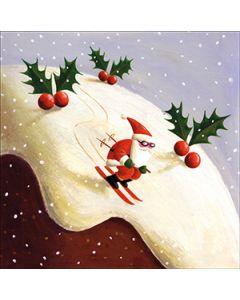 Skiing Santa - National Autistic Society Charity Christmas Cards