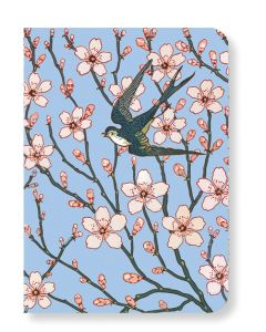 V&A Almond Blossom and Swallow Mini Notebook