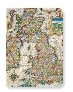 British Library Map Of Great Britain Mini Notebook