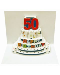 50th Birthday Pop Out Single Card