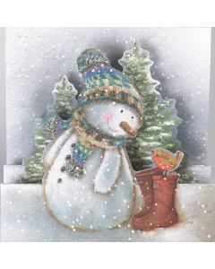 3D Sketchy Snowman - British Heart Foundation Charity Christmas Cards