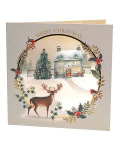 Christmas Cottage Scene - British Heart Foundation Charity Christmas Cards