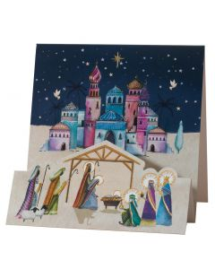 3D Kings and Shepherds - British Heart Foundation Charity Christmas Cards
