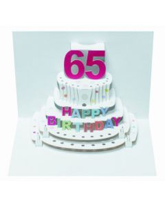 65th Birthday Pop Out Single Card