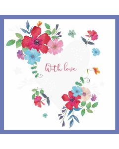 With Love Heart - Cards for Good Causes Single Charity Card - Plastic Free