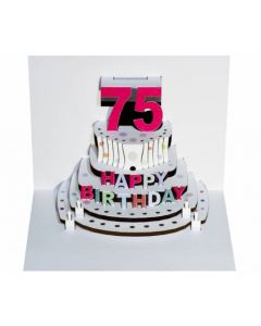 75th Birthday Pop Out Single Card
