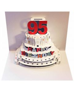 95th Birthday Pop Out Single Card