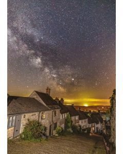 Gold Hill in Snow - Charity Christmas Cards