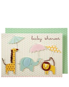 Animals & Umbrellas Single Card