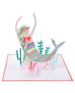 Mermaid Stand-Up Single Card