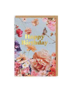 English Garden Birthday Single Card