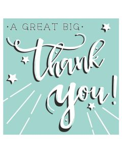 A Great Big Thank You - Thank You Single Card