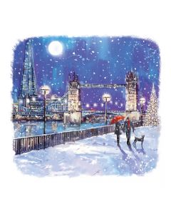 Tower Bridge in the Snow - Charity Christmas Cards