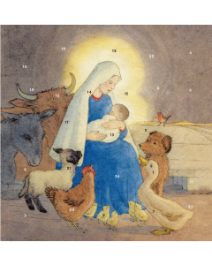 Madonna And Child Advent Card - Cards For Good Causes Charity Christmas Cards