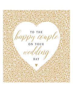 Happy Couple Wedding Single Card
