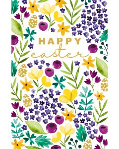 Floral Easter Card Single Card