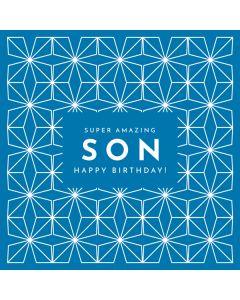 Amazing Son Birthday Single Card