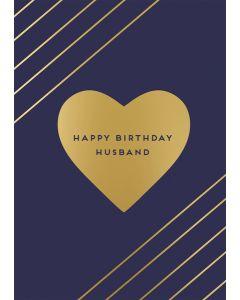 Husband Happy Birthday Single Card