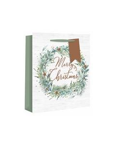 Alpine Wreath Gift Bag (Medium) - Charity Christmas Gifts & Decorations