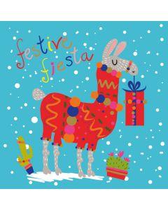 Festive Llama - Alzheimer's Society Charity Christmas Cards