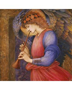 Angel Playing a Flageolet- Charity Christmas Cards - Plastic Free Packaging