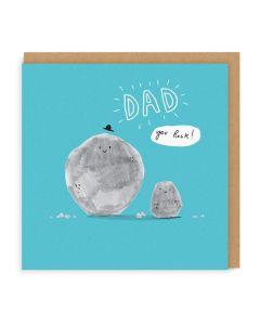 Dad Rocks Single Card