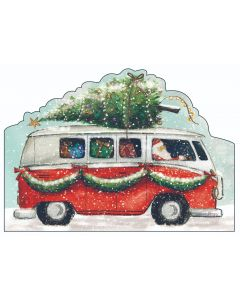Campervan - Barnados Charity Christmas Cards