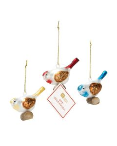 Bot Xmas Glass Bird Decs (Mixed Inner) - Charity Christmas Gifts & Decorations