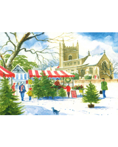 Beaconsfield Market At Christmas - Charity Christmas Cards