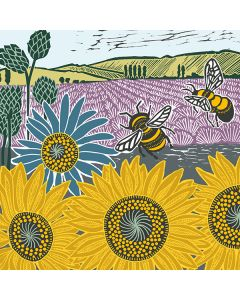 Bees in the Field - Everyday Single Cards